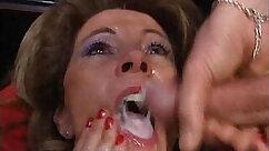 Curvy girl Katerina Morgan gets a bukkake