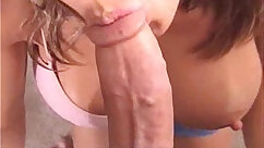 Busty lady gives a spouse the best blowjob of his life
