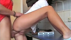 Amateur Sneaky Fuck On the Kitchen