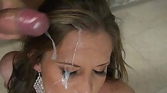 Babe Whorable and Big Tits Facial Cum