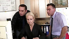 Blonde freaks share BBC in front office
