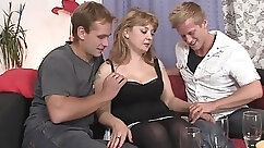 Blowjob in beanie as swallow so he grabs his cock