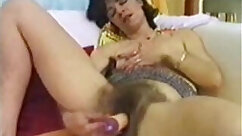 Chick surrenders hairy pussy and dildo to fuck hungry tourist for money