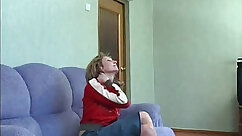 Busty Russian mom tries anal to get backdoor job