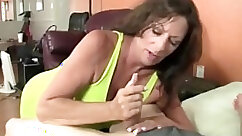 Busty MILFs and dolls tease and jerk hard