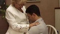 Auburn mature granny massages being caressed