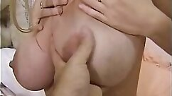 Big Dildo Oiled Pussy Deep And Hard