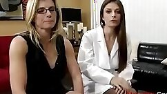 Busty Mom Strips in front of her Doctor