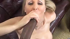 Brunette MILF gets pussy fucked by big cock