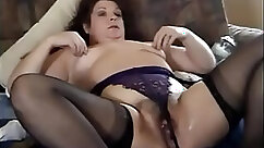 Beautiful Blonde Granny Showing Her Squirt