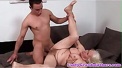 Another granny play with herself