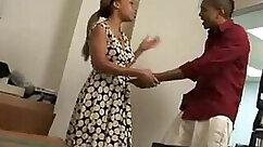 Black girl fucking her holes in office
