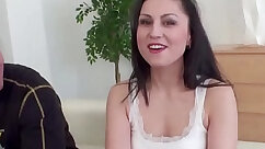 Amateur wife sharing huge dick with her husband