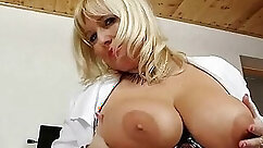 Big Tit Blonde MILF Beauty Takes Doctor Dollars