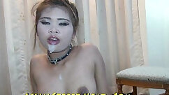 Asian thief gets her tied up and fucked by trainer