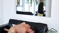 Cheating wife and step daughter outside in hotel