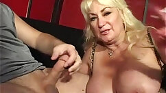 Busty mom giving blowjob and later smashed in pov position