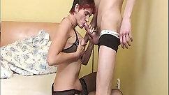 Amateur Horny Blonde Granny Places Anal Sex