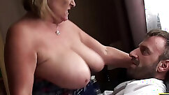 Amateur nice big tits blackmail xxx gets squeezed full