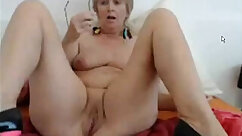 Big tits mature toying pussy on webcam