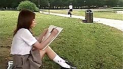 Asian schoolgirl being naughty on webcam
