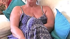 Busty Granny With Her Dildo