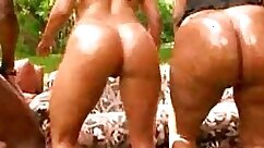 Amazing blonde and brazilian sex orgy in hotel