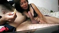 Asian mature girlfriend enjoys the taste of her cunt