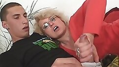 Cuckold fucks mature mother and wife of the same men