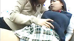 Asian schoolgirl gets her pussy touched