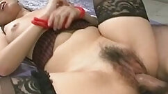 Babe in stockings sells his cigars to get his realy