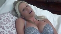 Blonde MILF Rose Quickie with Horny Facial